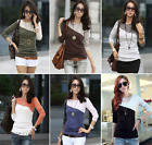 Clearance ! Fashion Women Summer Top Long Sleeve Blouse Casual T-Shirt Blouse_US