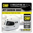 OMP JET CARBON 8860 RALLY HELMET OPTIONAL EXTRA VISORS & ACCESSORIES MADE BY OMP