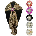 New Women's Girl Gold/Silver Plated Pearl Flowers Scarf Shawl Brooch Pin
