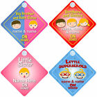 Brother  Sister on Board Car Signs Child/Baby - Choice of 30 Different Designs
