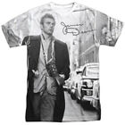James Dean 1950's American Actor Icon New York Walk Adult 2-Sided Print T-Shirt