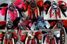 Hello Kitty KISS Slipknot or One Direction 1D Hairbows Bow w/Beads Ponytail Top