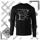 Dumbledore Dark Times Quote Harry Potter Longsleeve Black T-shirt Youth - Adult