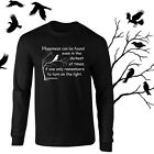 Dumbledore Happiness Quote Harry Potter Longsleeve Black T-shirt Youth - Adult