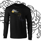 Golden Snitch Quidditch Harry Potter Art Longsleeve Black T-shirt Youth - Adult