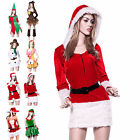 Ladies Xmas Elf Reindeer Elk Snowman Miss Santa Claus Little Helper Fancy Dress