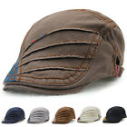 Newly Men Flat Cap Side Adjustable Peaked Cap Male's Riding Fishing Sunproof Hat