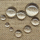 Upick 9 Sizes 30pcs Clear Round Glass Dome Cabochon Fit Cameo Settings
