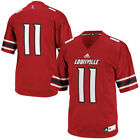 No. 11 Louisville Cardinals adidas Replica Football Jersey - Red - NCAA