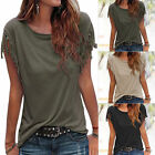 New Lady Tassels Short Sleeve Loose T-Shirt Summer Casual Tops Blouse plus size