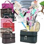 Large Cosmetic Make Up Bag Case Travel Double-Deck Toiletry Wash Pouch 6 Colors