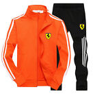Men's Gym Run TrackSuit Jogging Bottom Sport Jacket Suit Set Trousers strips G06