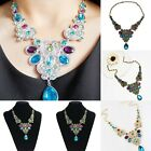 Charm Women's Bib Gemstones Crystal Chain Pendant Jewelry Gift Necklace