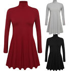 Women Ladies Long Sleeve Casual Mini Dress Loose Tops Blouse T Shirt Plus Size