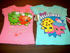 NWT Shopkins Girls Size 4 or 5 Short Sleeve T-Shirts Pink Sweet or Blue Simply D