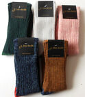 Ladies 90% Shetland wool, contrast heel and toe socks,size 4-7