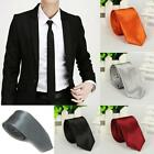 New Casual Slim Plain Mens Solid Skinny Neck Party wedding Tie Silk Necktie S