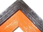 "2"" Barnwood Farmhouse Distressed Wood Picture Frame-Black/Orange"