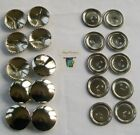 10 x Easy Cover Metal  BUTTON SHELLS (22mm size)