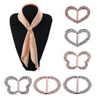 1 Pc Rhinestone Crystal Scarf Ring Buckle Scarf Clip Slide Buckle Women Jewelry