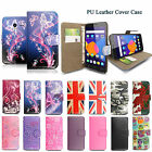 Pu Leather Wallet Case Cover for Alcatel Pixi 4 (3.5 / 4.0 / 5.0 / 6.0)