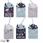 New Baby Arrival Birthday Congratulations Present Scrapbook Gift Tag Label Card