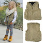 New Baby Toddler Girls Faux Fur Vest Top Kid's Fashion Outerwear Clothes 1-5Year