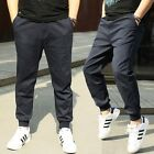 Fat Men Warm Cotton Athletic Casual Trousers Sport Skinny Pants Oversize Bottoms