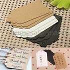 200pcs Blank Kraft Paper Hang Tags Wedding Party Favor Label Price Gift Cards