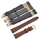 2 Pcs Unisex Black Brown Watch Strap Bands Alloy Buckle Replacement Accessories