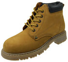 Oaktrak Newland Boys Tan Honey Nubuck Lace Up Leather Ankle Boots Sizes UK 1 - 6