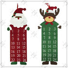 Christmas Large Felt Advent Countdown Calendar Santa Reindeer Xmas Tree Fabric