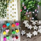 Paper Garland Hanging Decor Party Multi Style Star 2M Colourful Birthday