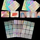 24 in one Nail Art Manicure Stencil Tips Form Guide Sticker Stamping DIY Tools