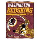 "New NFL Pick Your Team Soft Micro Rasche Large Fleece Throw Blanket 46"" X 60"""