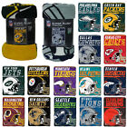 "New NFL Pick Your Team Soft Micro Rasche Large Fleece Throw Blanket 46"" X 60"" $24.99 USD on eBay"
