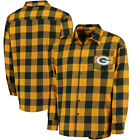 Men's Green Bay Packers Klew Green Large Check Flannel Button-Up Shirt NEW on eBay