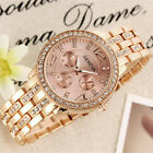 Stainless Steel Fashion Women's Crystal Bracelet Analog Quartz Wrist Watch New