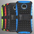 For Motorola Moto Z Play Droid Case Hard Protective Kickstand Armor Phone Cover