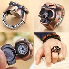 Mens Womens Retro Finger Ring Watch Unisex Cool Clamshell Ethnic Carved Watches image