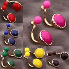 New Women Korean Style Alloy Jewelry Evening Party Ball Stud Earrings