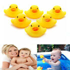10/20Pcs Yellow Baby Kids Children Bath Toy Cute Rubber Race Squeaky Duck Ducky