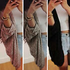 Womens Boho Irregular Long Loose Coat Jacket Outwear Top bat Sleeve Cardigan