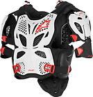 Alpinestars A-10 Full Chest Protector White/Black/Red Mens All Sizes