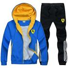 Men's TrackSuit Jogging Sport Suit Sets Jacket Sweater Trousers Yellow Red Blue