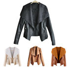 1PC Women Girl PU Leather Short Jacket Moto Biker Zipper Coat Outwear Fashion