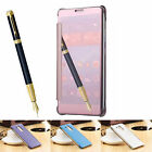 Luxury Mirror Plating Clear View Slim Flip Case Cover For Huawei Mate 7&Honor 8