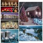 Christmas LED Light Up Luminous Framed Painting Canvas Print Picture Wall Decor