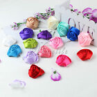 4cm Satin Rose Head Flowers For DIY Craft Hairband Scrapbooking Party Cake Decor