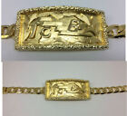 ELVIS TCB BRACELET GOLD PLATTED PLAIN BY ARTIE